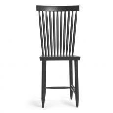 Family No.2 - Stuhl aus lackiertem Bucheholz in Weiss oder Schwarz, hohe Rückenlehne
