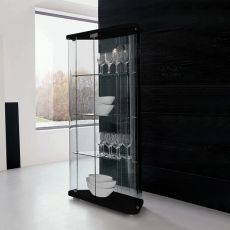 6431 Lisa - Tonin Casa showcase made of wood and glass, several colours available