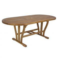Catalina T - Tavolo allungabile in legno di acacia, disponibile in diverse misure, per esterno