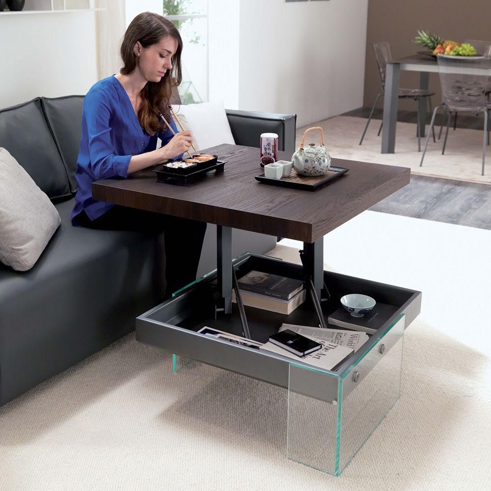 Bellagio petite table transformable et relevable en deux - Petite table relevable ...