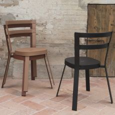 Thor - Metal chair, stackable, also for outdoor, available in several colours