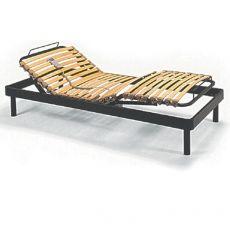 Superflex - Rete letto elettrica in metallo, doghe in legno con sospensioni, diverse misure