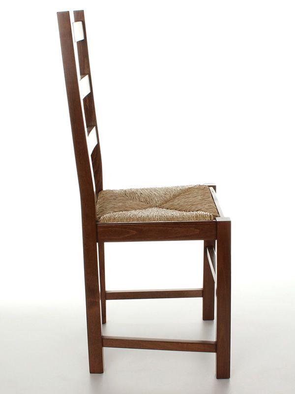 Mu82 pour bars et restaurants chaise rustique en bois for Assise de chaise en paille