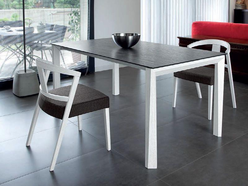 universe 160 w table extensible domitalia en bois plateau en verre en c ramique ou en bois. Black Bedroom Furniture Sets. Home Design Ideas