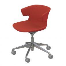 Cove Op Soft - Poltroncina operativa per ufficio, girevole e con ruote, in metallo con seduta imbottita, disponibile in diversi rivestimenti