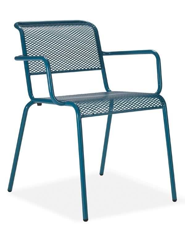 Nassa p chaise en m tal de diff rentes couleurs avec des for Chaise aluminium exterieur