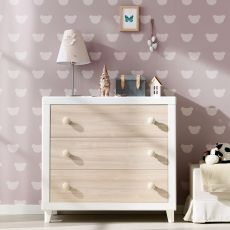 Anouk C - Chest of drawers Pali in wood, with three drawers