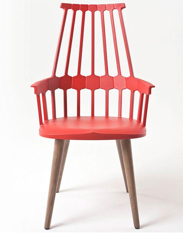 comback 5954 sedia kartell di design in legno e