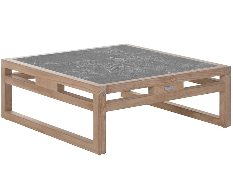Kontiki t mesa baja de madera emu tapa en piedra l vica for Mesa baja jardin