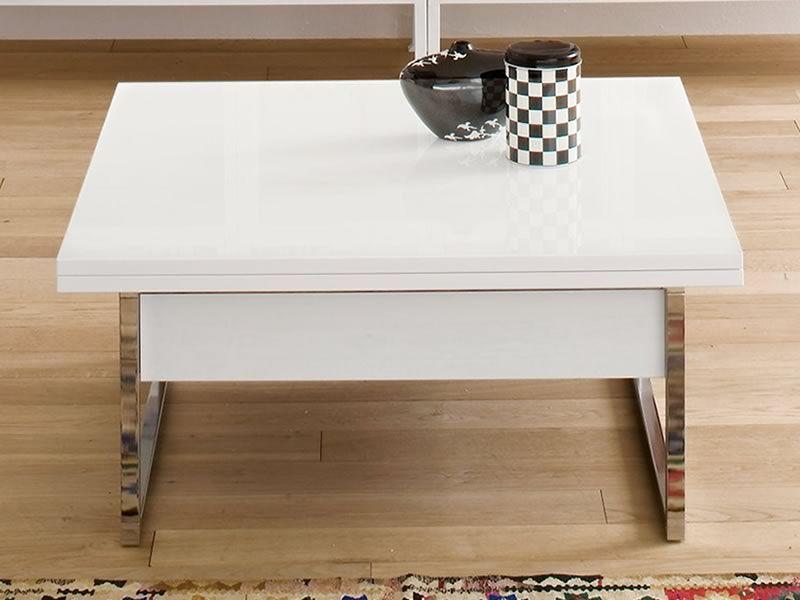 Didone q tavolino trasformabile in tavolo da pranzo 90 for Tavolo trasformabile