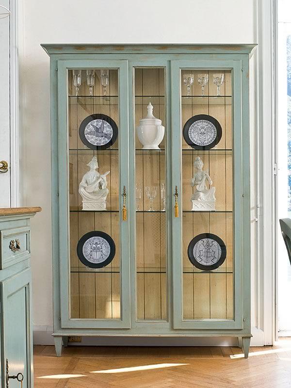 Cigno 1207 vetrina classica tonin casa a 2 ante in legno diverse finiture disponibili - Librerias lacadas ...