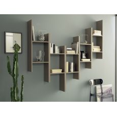 Game - Domitalia modular shelves made of melamine, different colours available