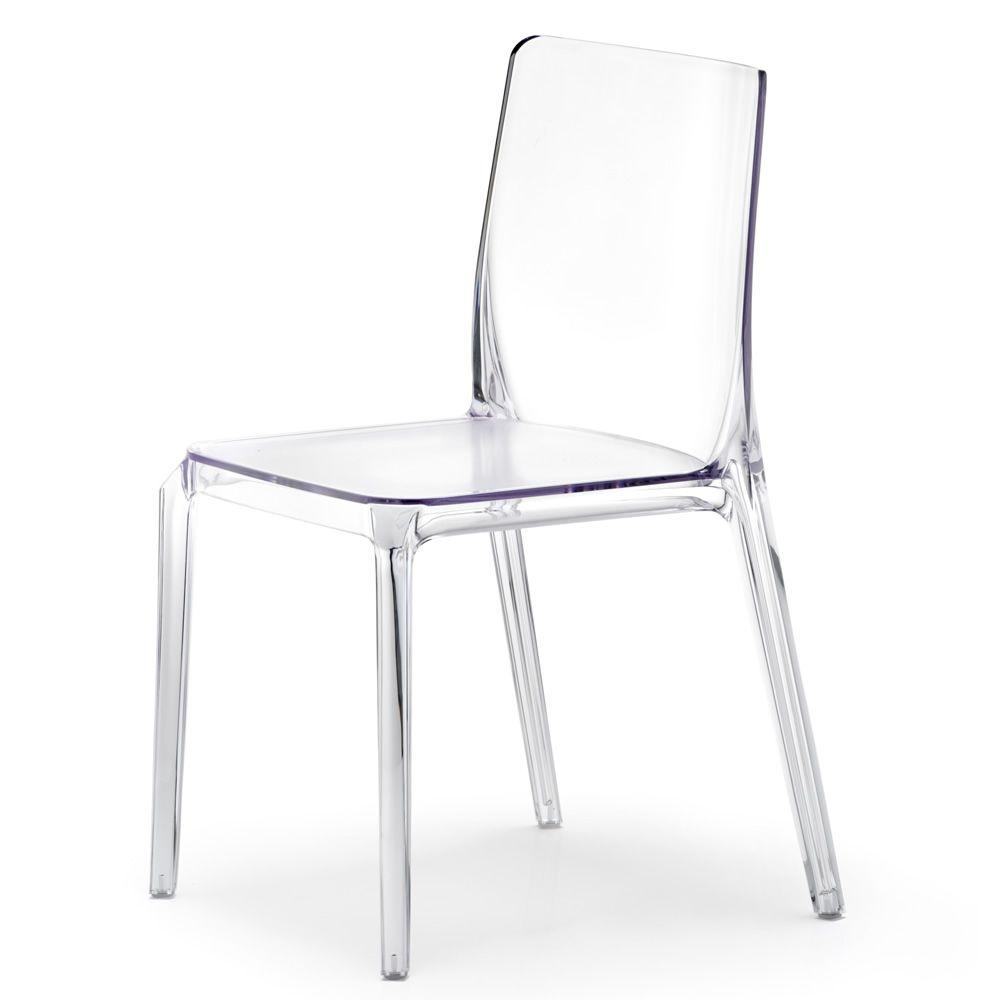 Blitz 640 per bar e ristoranti sedia per bar di design for Sedie plastica trasparente design