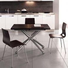 Esprit - Tavolo Domitalia in metallo con piano in melaminico, 110 x 70 cm, allungabile e regolabile in altezza
