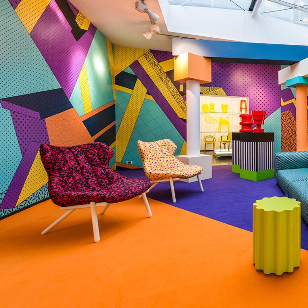 Foliage sofa by sottsass divano di design serie kartell for Divano rosso abbinamenti