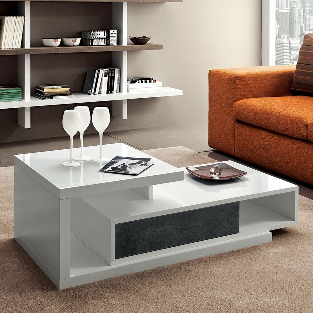 pa365 table basse pivotante avec tiroir en diff rentes couleurs sediarreda. Black Bedroom Furniture Sets. Home Design Ideas