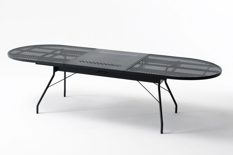 Rig33 tavolo allungabile in metallo diversi colori e for Tavolo giardino metallo
