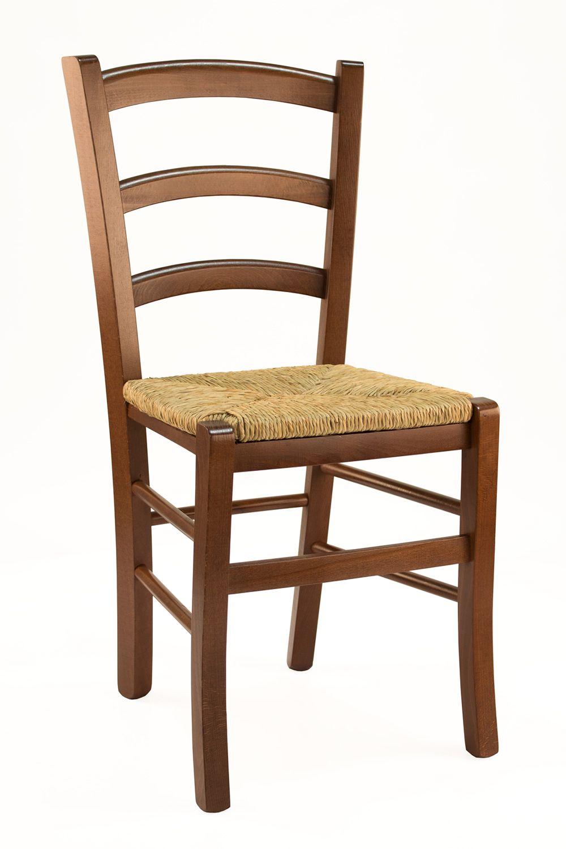 110 sedia legno rustica seduta paglia for Sedie di design in legno