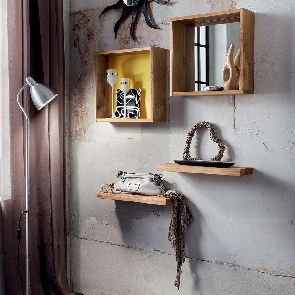 pa622: entrée moderne comprenant 1 miroir, 1 étagère cube de