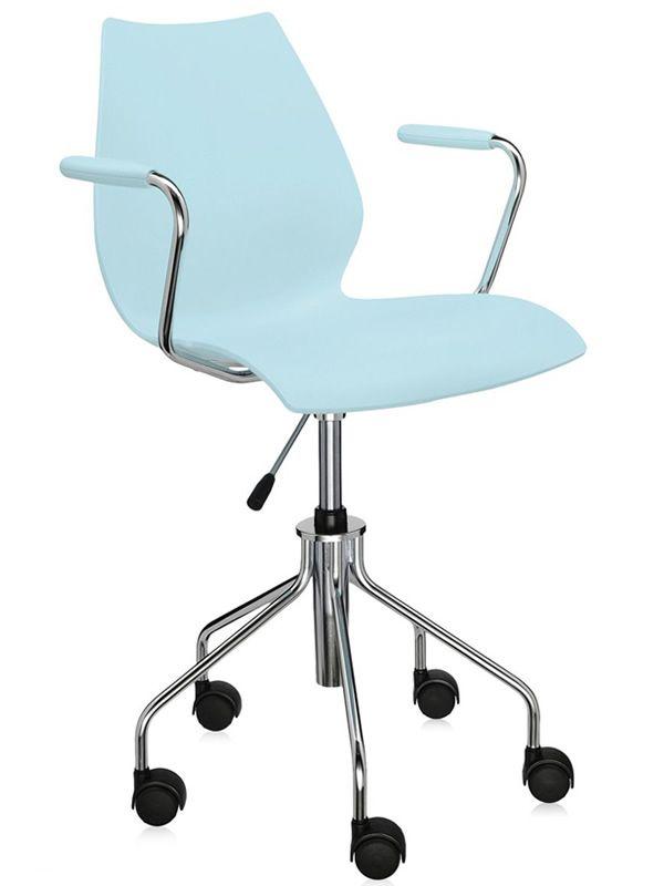Maui o silla kartell de design en metal con o sin for Sillas para oficina office max