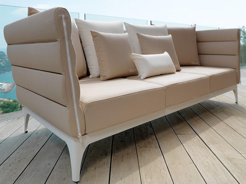 Pad set set design para jard n sof 2 sillones y una mesita de metal 120x80 cms sediarreda - Sofa color arena ...