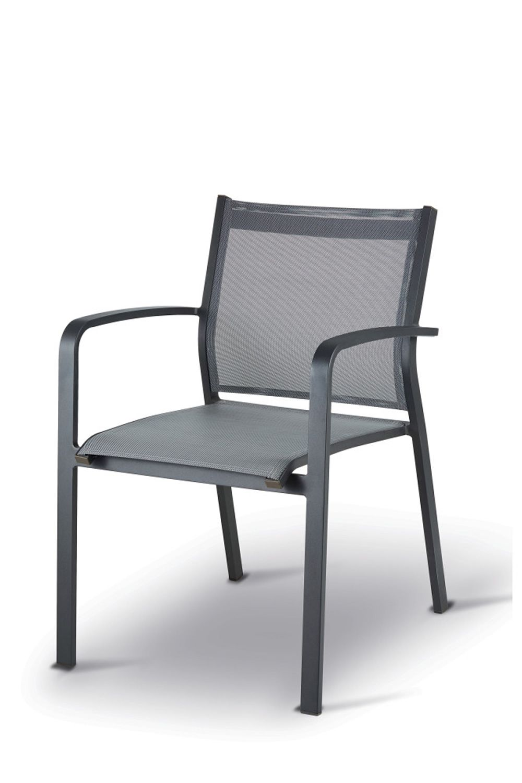 tt936 chaise avec accoudoirs en aluminium et textil ne empilable pour une utilisation l. Black Bedroom Furniture Sets. Home Design Ideas