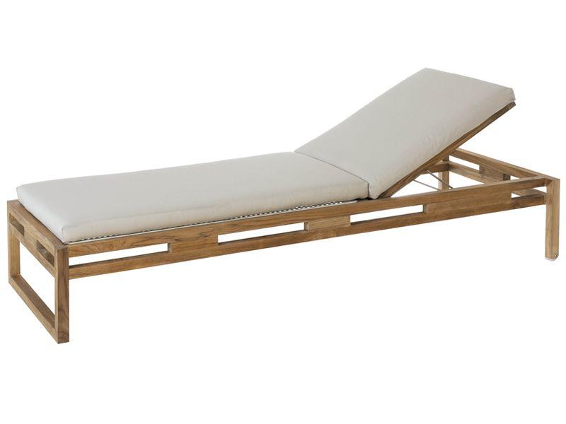 kontiki l tumbonas de madera y metal barnizado color blanco - Tumbonas De Madera