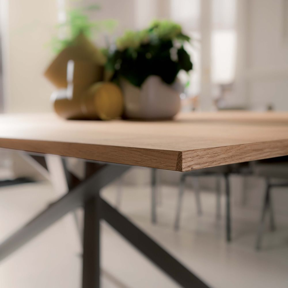 4x4 modern table in metal 200x100 cm wooden top for Coffee tables 4x4