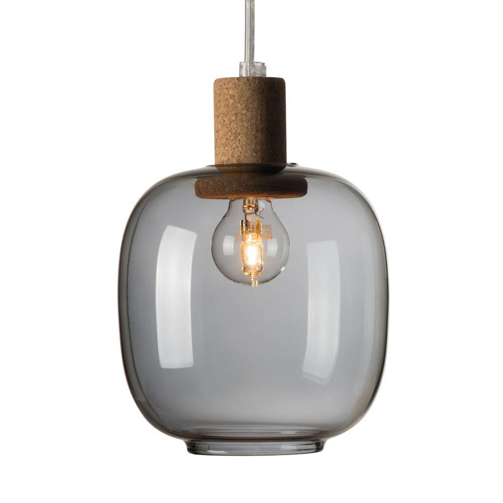 Picia lampe suspension en verre et en conglom rat de for Lampe suspension verre
