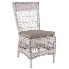 Orta - Chair in synthetic rattan, with cushion, for garden