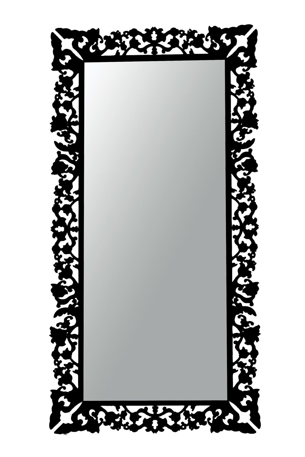 Retr colico design mirror in black methacrylate square for Miroir 90 x 180