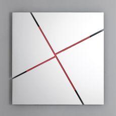 Break - Specchio di design Bontempi Casa, quadrato o rettangolare, con struttura portante in acciaio disponibile in diversi colori