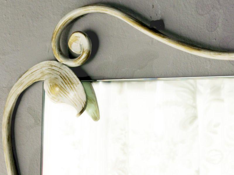 Eleonora miroir rectangulaire en fer disponible en for Miroir blanc vieilli