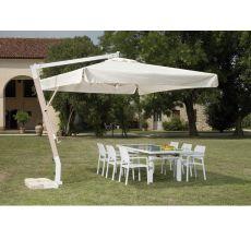 OMB25 - Parasol de jardín con brazo lateral, estructura de aluminio, disponible en varias medidas: cuadrado o rectangular