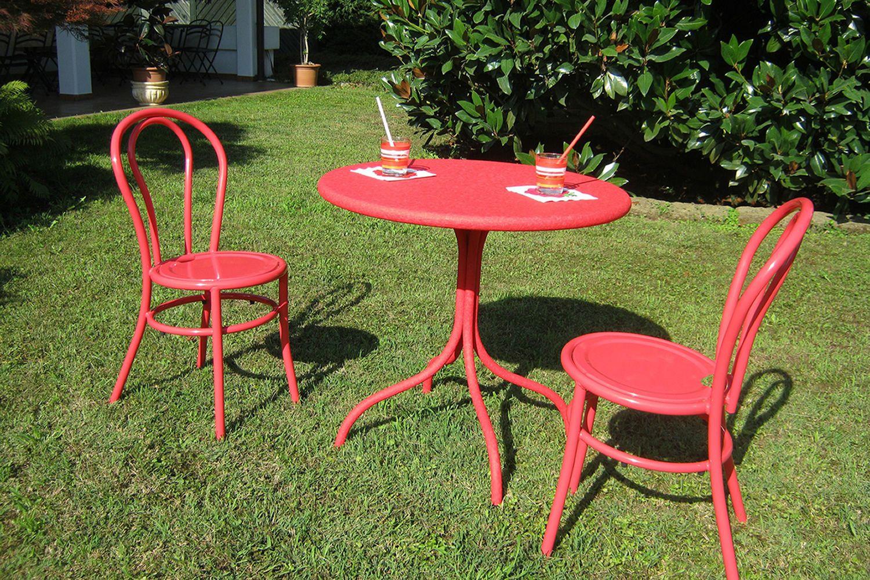 Rig49 tavolo rotondo in metallo diametro 80 cm diversi for Tavolo giardino metallo