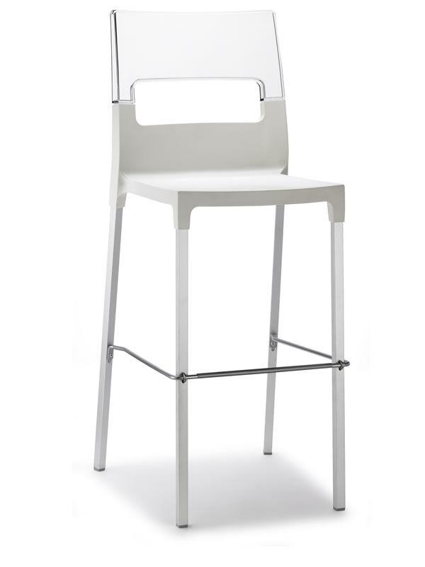 diva s 2286 tabouret haut en aluminium et en technopolym re hauteur de l 39 assise 75 cm. Black Bedroom Furniture Sets. Home Design Ideas