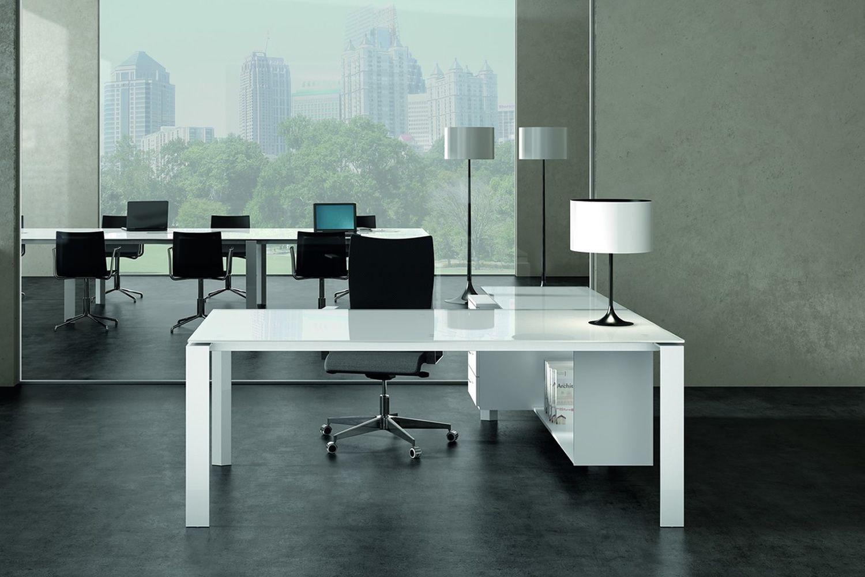 Scrivania Ufficio Vetro E Acciaio : Scrivanie vetro ufficio scrivania direzionale scrivania