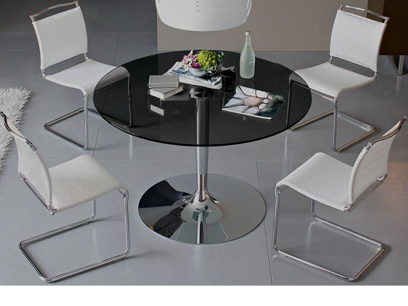 Cs4005 planet table en m tal calligaris plateau rond 120 for Plateau de table rond 120 cm