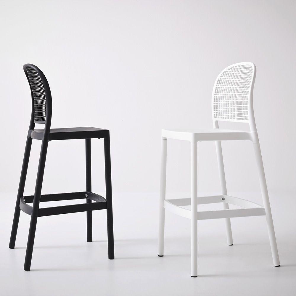 panama s hocker aus metall und technopolymer sitzh he 75 cm auch f r den au enbereich. Black Bedroom Furniture Sets. Home Design Ideas