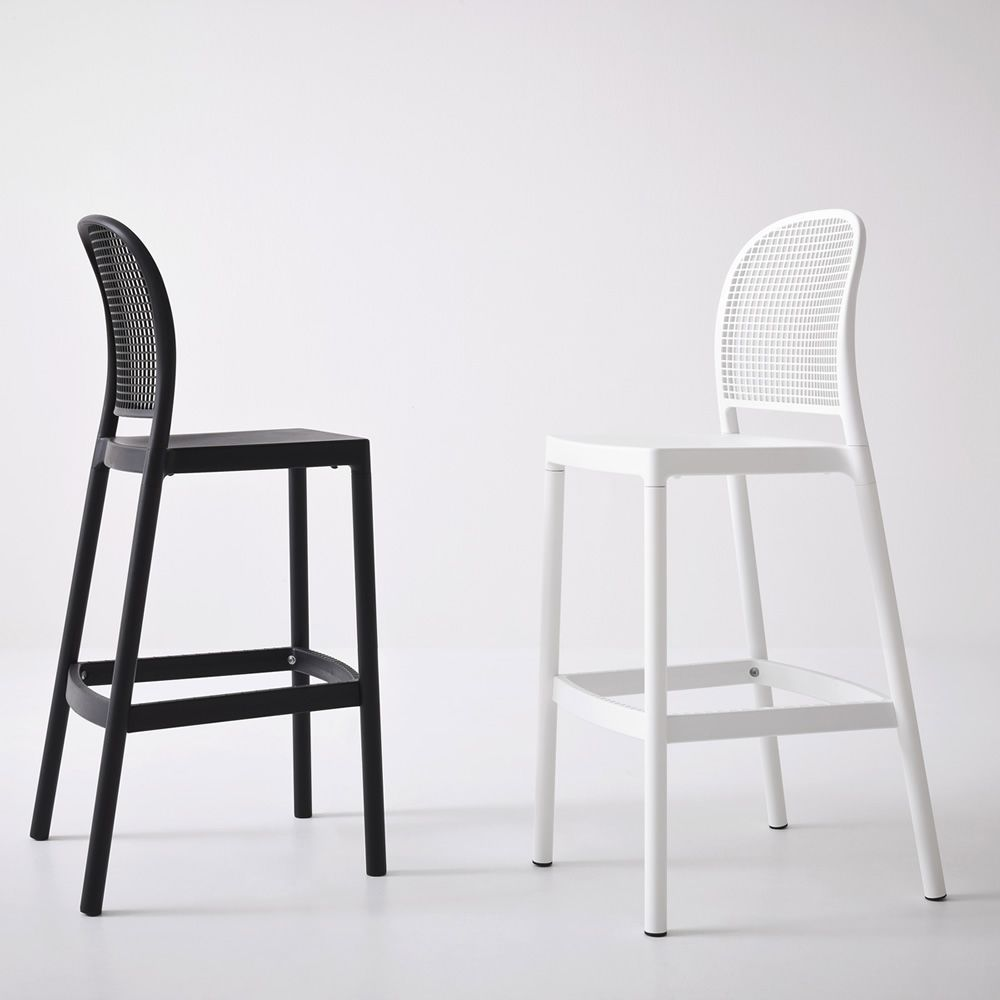 panama s hocker aus metall und technopolymer sitzh he 75. Black Bedroom Furniture Sets. Home Design Ideas