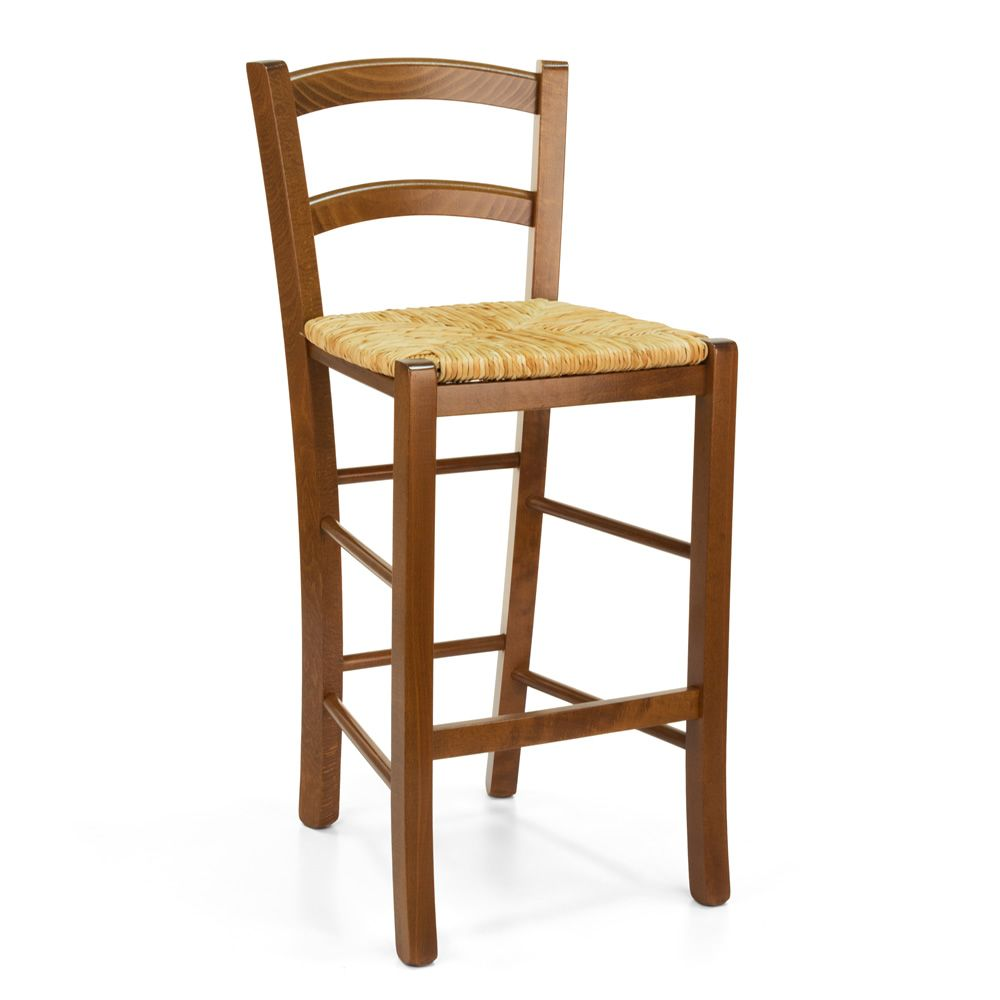 199 B Country Style Stool In Wood Height 64 Cm