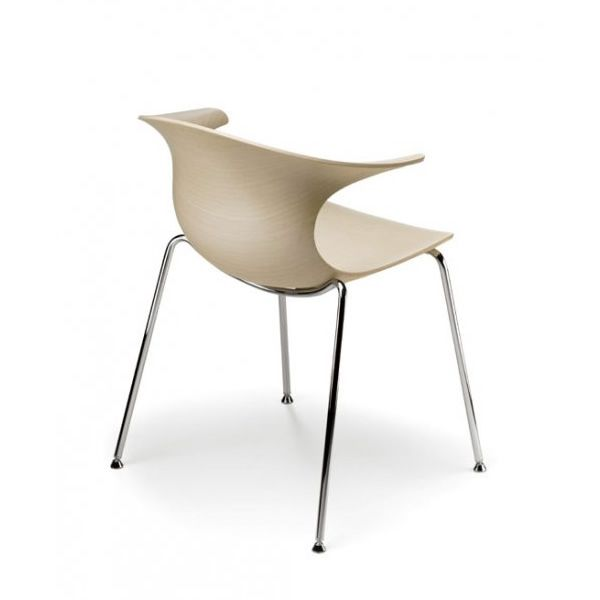 loop w stapelstuhl infiniti aus metall sitz aus holz in. Black Bedroom Furniture Sets. Home Design Ideas