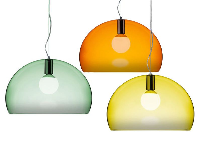 Fl y small lampada a sospensione kartell di design in for Lampade kartell outlet