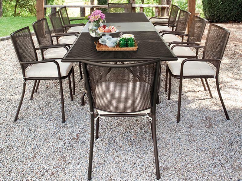 athena 3428 table emu en m tal allongeable pour jardin. Black Bedroom Furniture Sets. Home Design Ideas