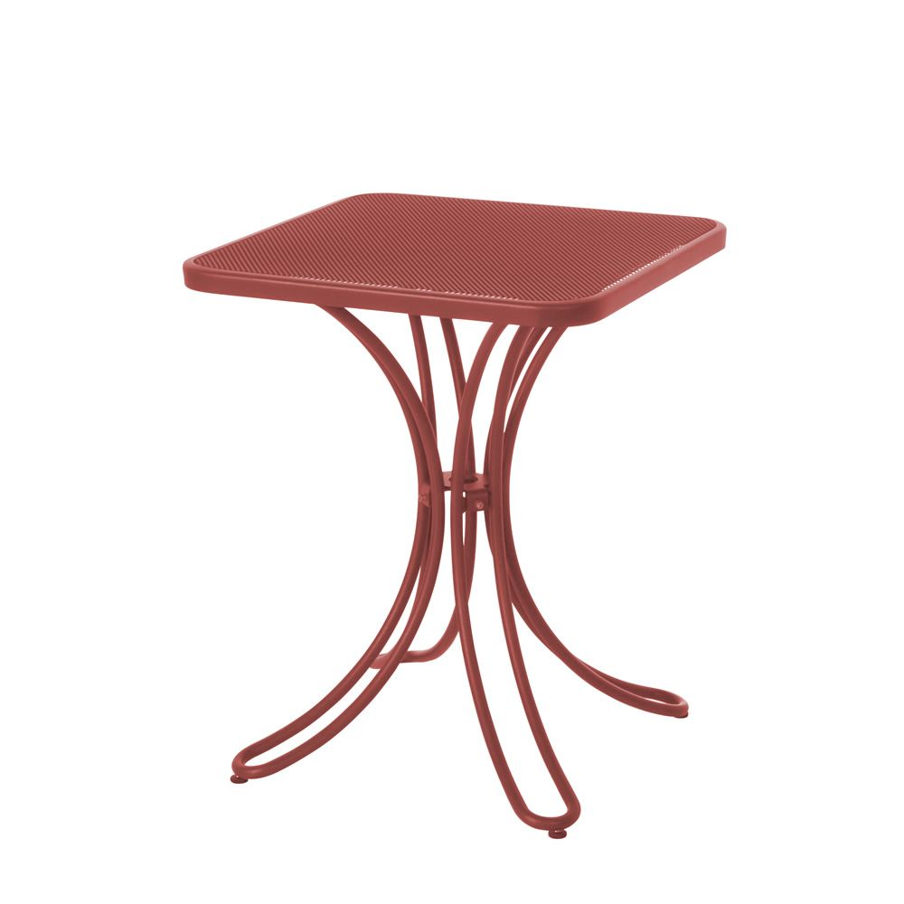 Florence emu table made of metal for garden 60x60 cm for Table 60x60 design