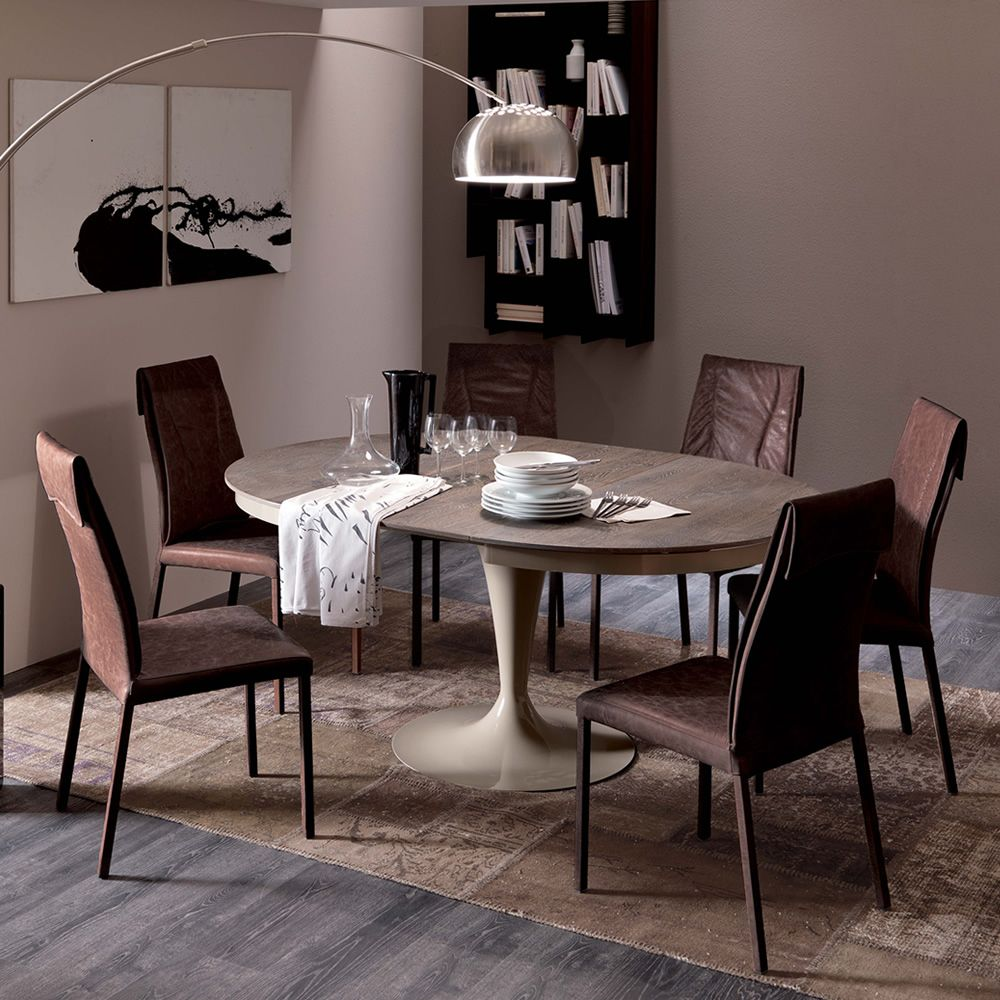 Luxy sedia moderna in metallo rivestita in pelle for Sedie design vintage