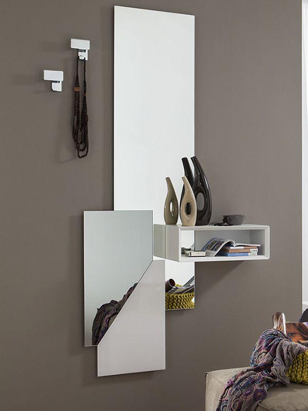 Pa600 mobile ingresso con specchio e appendini disponibile in diversi colori sediarreda - Specchio con mensola per ingresso ...