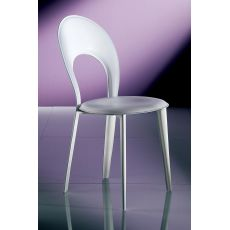 Irene Off - Bontempi Casa upholstered chair, with padded metal frame