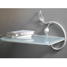 Anita - Hanging bedside table in iron, with glass shelf, in several colours