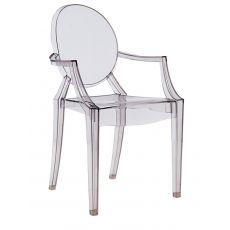 Louis Ghost - Poltroncina Kartell di design, in policarbonato trasparente o colorato, impilabile, anche per giardino